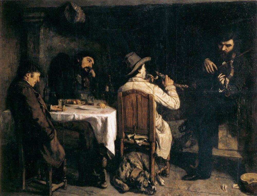 After Dinner at Ornans, 1848 by Gustave Courbet