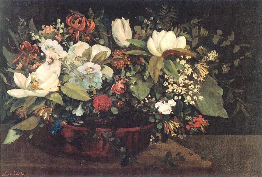 Basket of Flowers, 1863 by Gustave Courbet
