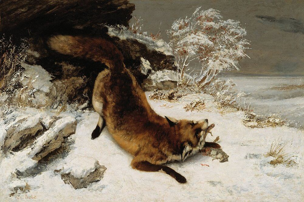Fox in the Snow, 1860 by Gustave Courbet