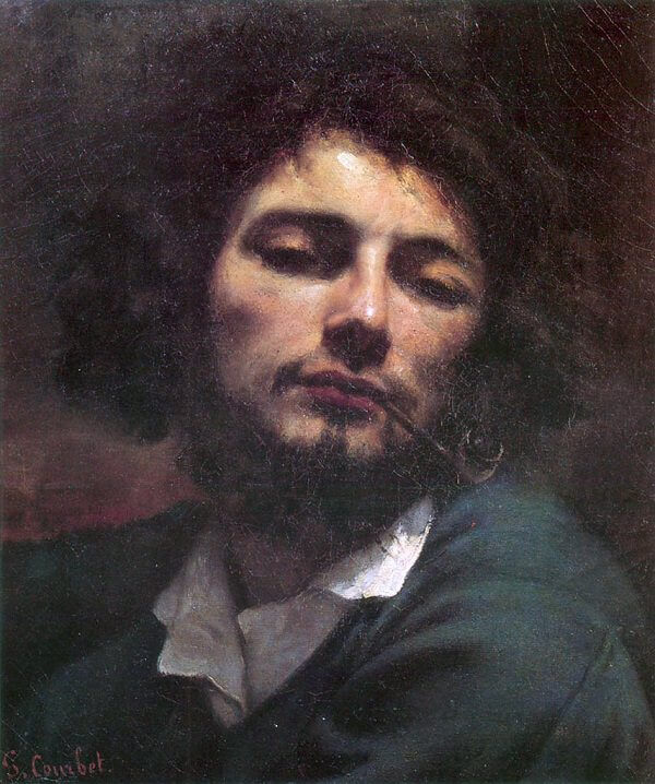 Man with a Pipe, 1848 by Gustave Courbet