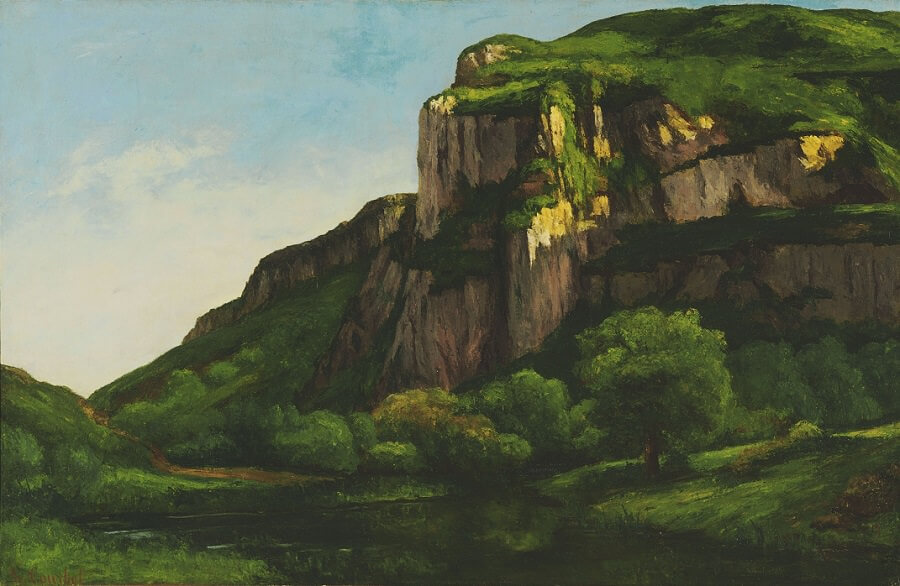 Rocks at Mouthier, 1860s by Gustave Courbet