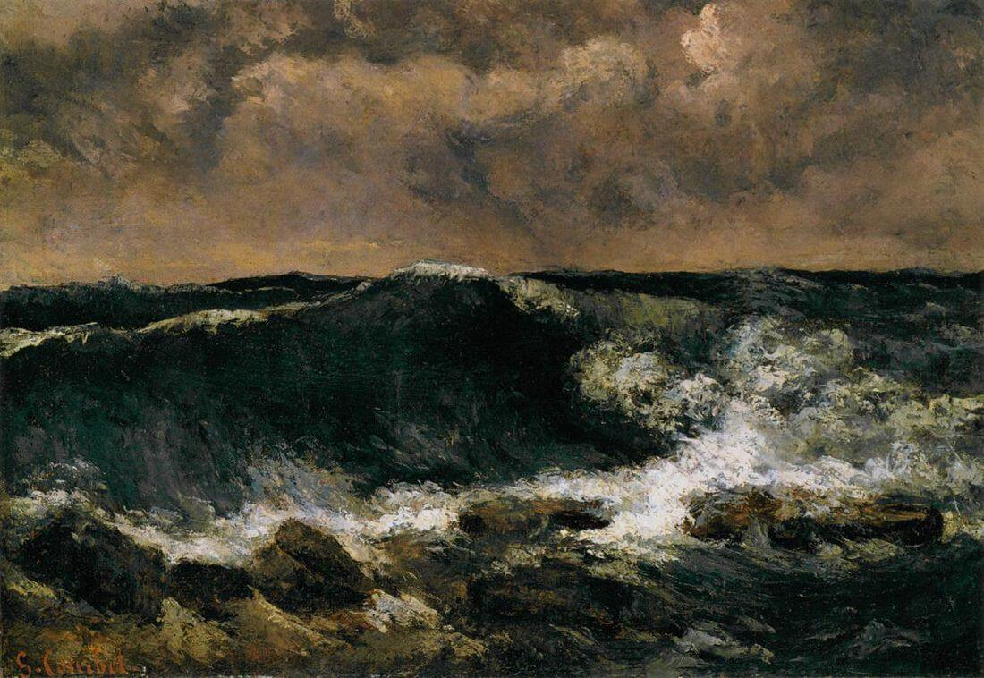 Stormy Sea, 1869 by Gustave Courbet