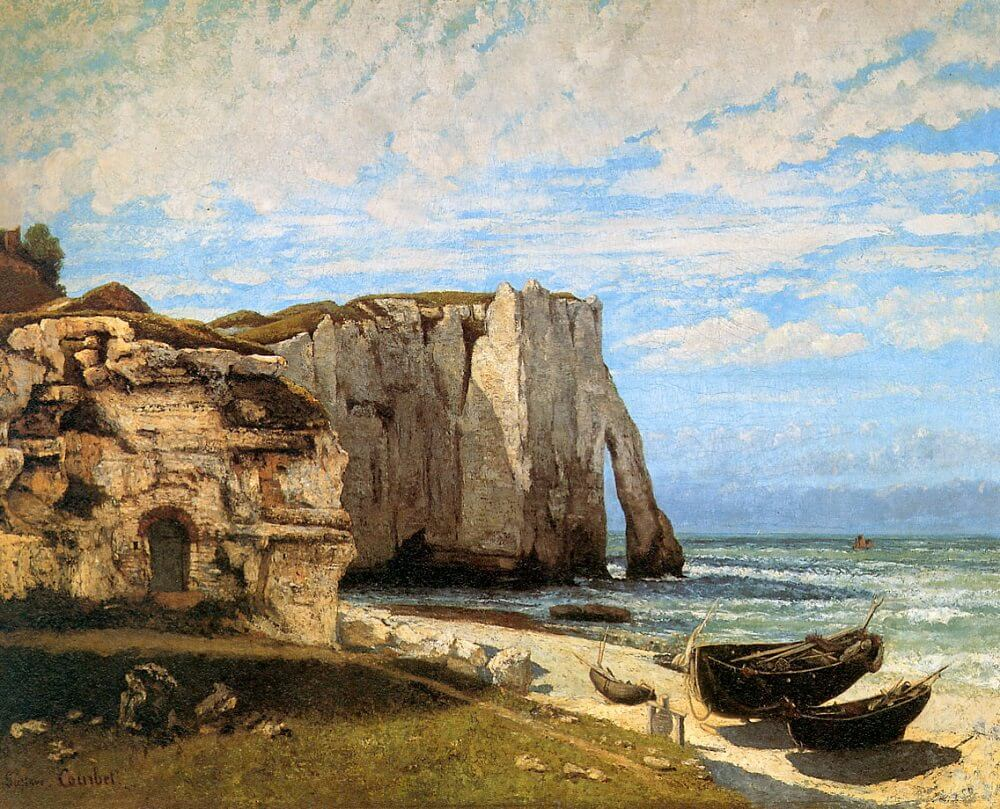 The Cliff at Etretat after the Storm,, 1870 by Gustave Courbet