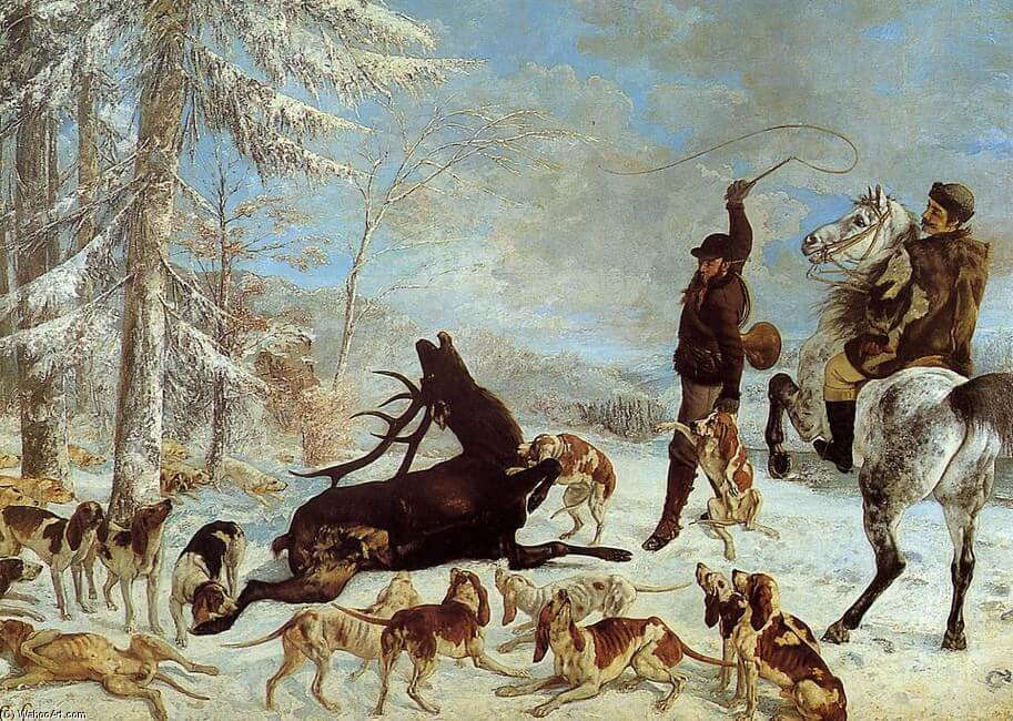 The Death of the Stag, 1867 by Gustave Courbet