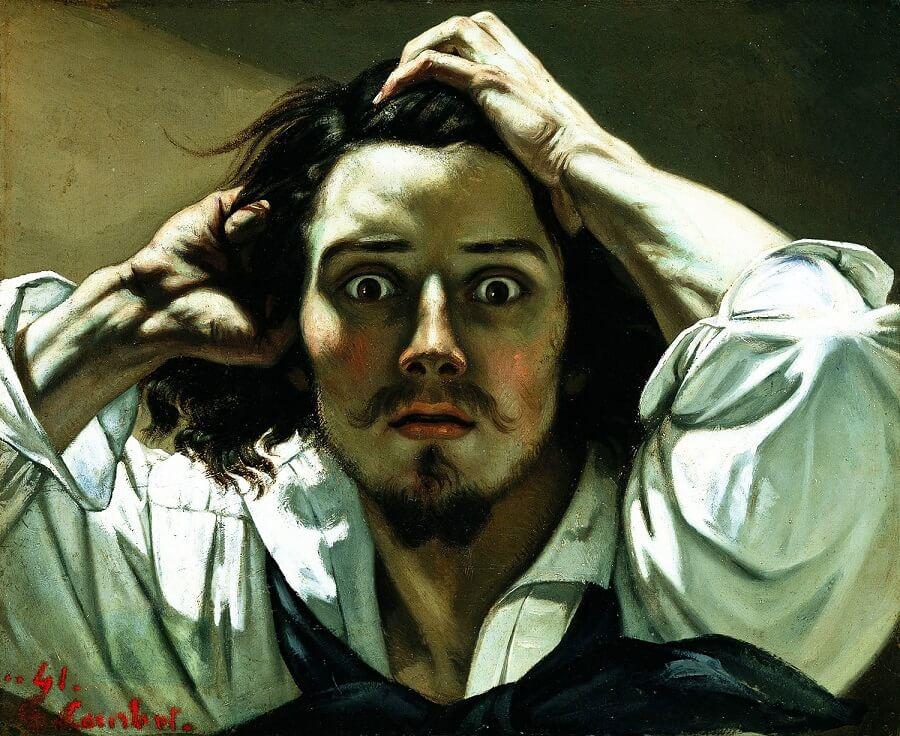 The Desperate Man, 1843 by Gustave Courbet