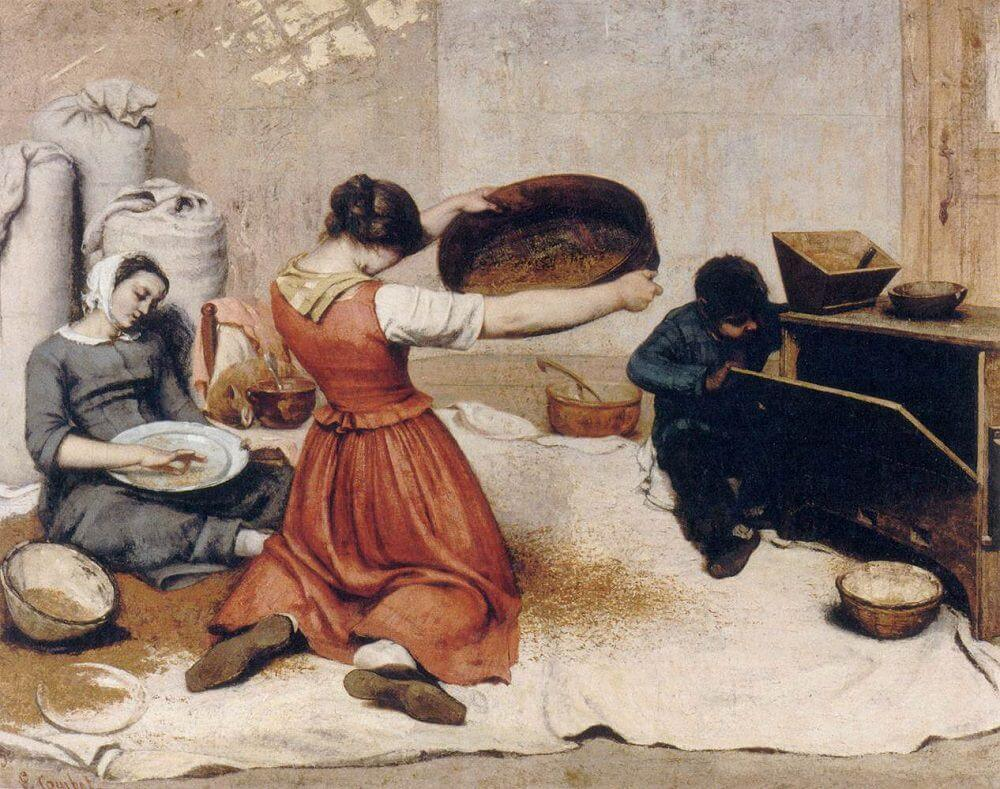The Grain Sifters, 1855 by Gustave Courbet