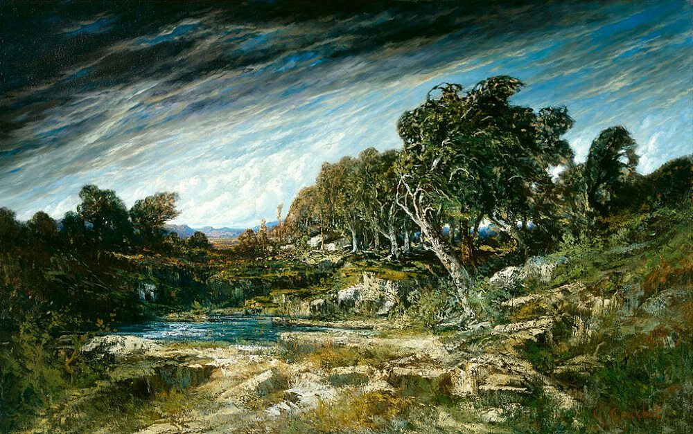 The Gust of Wind, 1865 by Gustave Courbet