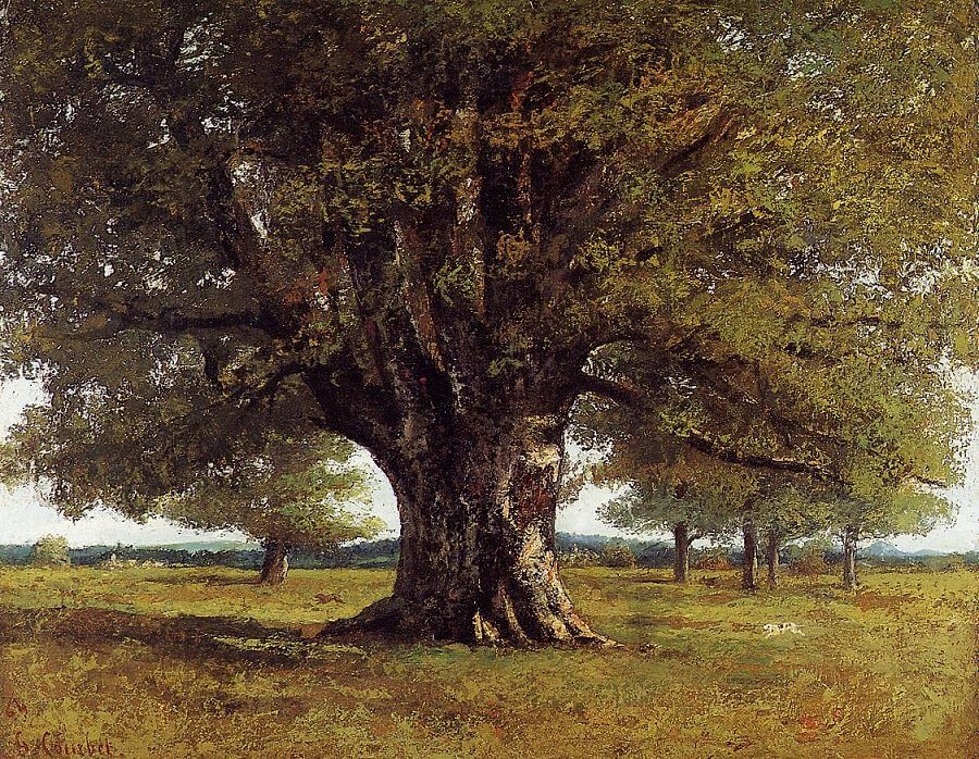 The Oak of Flagey, 1864 by Gustave Courbet
