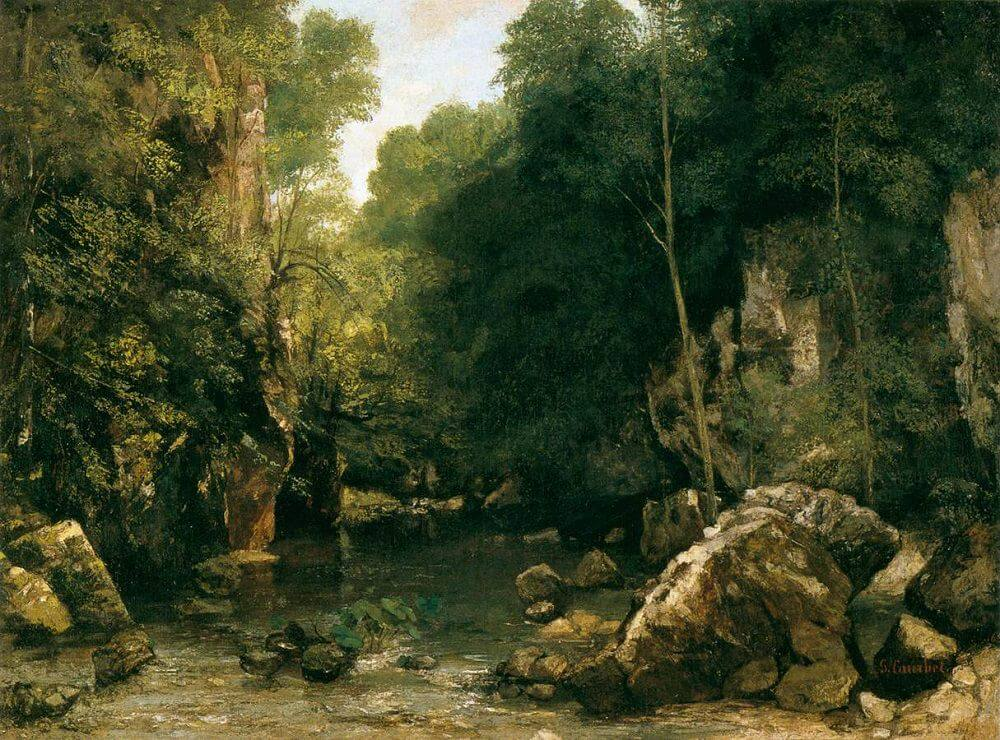 The Shaded Stream, 1865 by Gustave Courbet