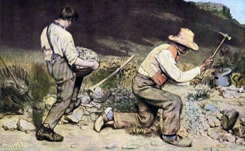 The Stone Breakers, 1849 by Gustave Courbet