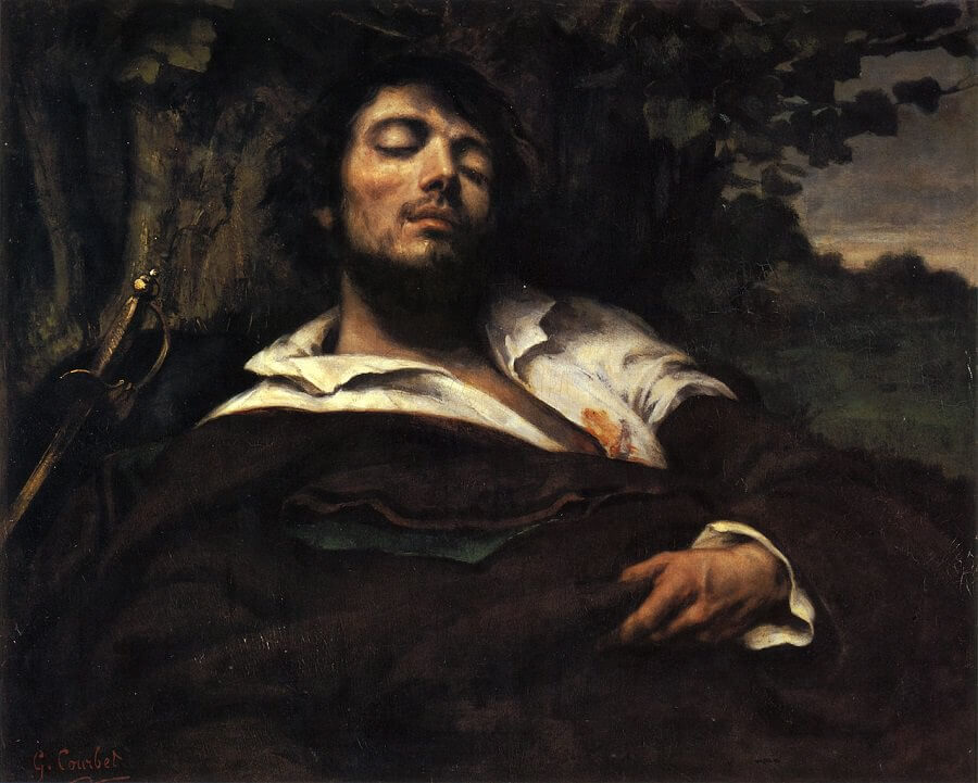 The Wounded Man, 1844 by Gustave Courbet